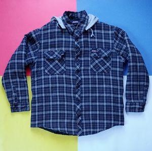 Dickies Plaid Work Jacket with Detachable Hood